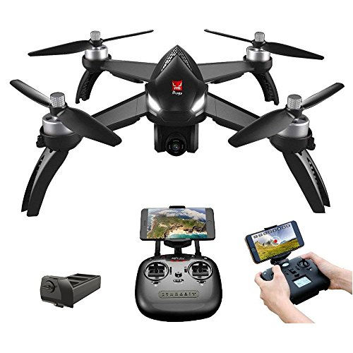 Goolsky MJX Bugs 5W 1080P 5G WiFi FPV Camera GPS Posizionamento Altitudine Tenere RC Drone Quadcopter (Nero)