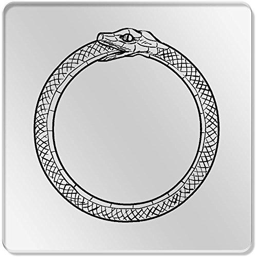 6 x 'Schlange Essen Schwanz (Ouroboros)' Klar Untersetzer (CR00037605) Schlange Essen Schwanz
