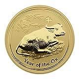 """1 oz Australien 2009 Lunar II """"Year of the Ox"""" (Ochse) 1 Unze 999,9 Goldmünze"""