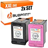 Bubprint 2 Cartucce di Inchiostro Compatibile per HP 300-XL 300XL NERO+COLORE CC641EE CC644EE
