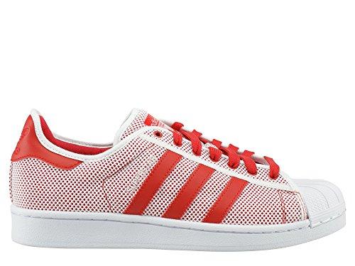 adidas Originals Superstar Adicolor Baskets Blanc S76502 rouge blanc
