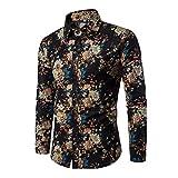 Chemise manches longues homme artistique multicolore,XL