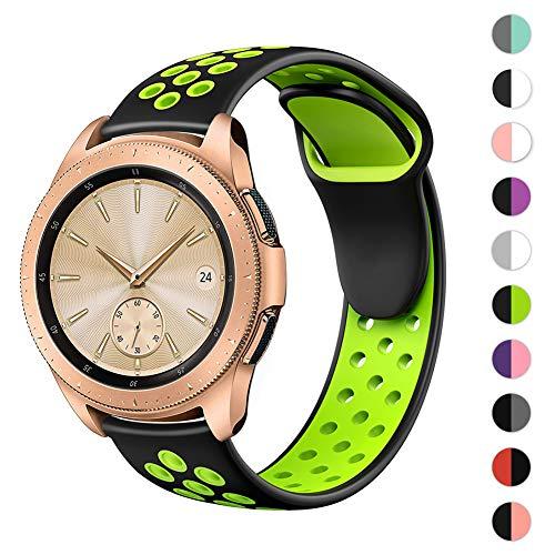 Hagibis Cinturini Compatibile con Samsung Galaxy Watch 42mm / Samsung Gear Sport/Samsung Galaxy Watch Active/Huawei Watch 2,20mm Cinturino Regolabile in Silicone sostitutivo per Lo Sport