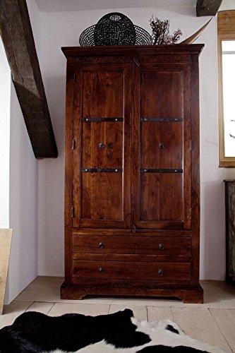 Kolonial Schrank Akazie massiv Holz OXFORD #419