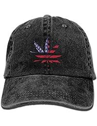 VTXWL Weed Skull Flag Unisex Washed Adjustable Vintage Cowboy Hat Denim  Baseball Caps 5e5979b64472