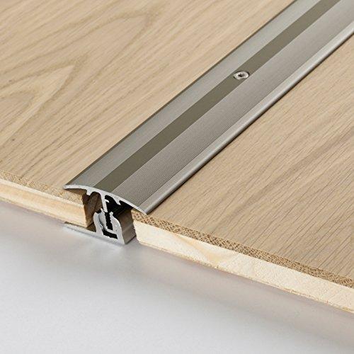 Parador Boden-Profile Übergangsprofil Aluminium Edelstahl für Parkett Bodenbeläge 8-18 mm
