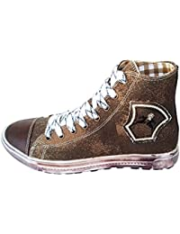 Details zu Maddox Damen Trachten Schuhe Leder Sneaker Valentina Braun zu Dirndl Lederhose