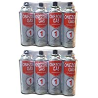 Set of 8 Sun Onezone Butane Gas Cartridge 7.8 Oz (220g) - 302016