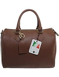 Chicca Tutto Moda CTM Borsa da Donna Bauletto a Mano, 30x23x18cm, 100% Made in Italy