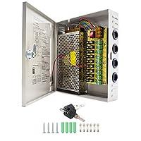 HAILI 12V 10A DC 9 Output Power Supply Switch Mode CCTV Camera Distribution Power Supply