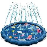 Splash Play Mat, Uiter Tapete de Aprendizaje para Salpicar con Rociadores para Actividades al Aire Libre, Juguetes Inflables de Agua para Bebés, Niños Pequeños y Niños (60' / 150 cm)