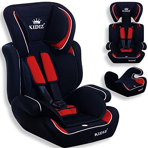 Preisvergleich Produktbild KIDIS® Autokindersitz Kinderautositz Sportsline Gruppe 1+2+3 | 9-36 kg Autositz Kindersitz | Stabil und Sicher | Farbe Rot