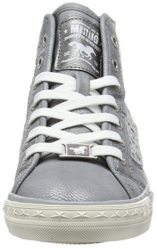 Mustang 1146-507-2, Sneakers Hautes Femme Gris (2 Grau)