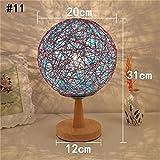 GJ- Schlafzimmer Nachttischlampe kreative Mode-Lampe minimalistisch moderne Lampe Nachtlicht-Lampe Gartenschnur takraw (Farbe : #11)