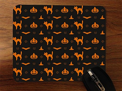 K O Laterne und Katze Muster Desktop Office Silikon Maus Pad von mwcustoms (Scary Halloween-jack O Laternen)