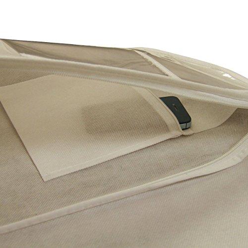 3 atmungsaktive Kleidersäcke für Hochzeitskleider - Weinrot - 183 cm - Hangerworld Ecru