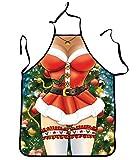 DELEY Weihnachten Schürze Familie Abendessen Kochen Versorgt Grill Schürze Christmas Lustige Neuheit-Geschenk Stil 1
