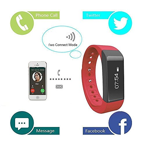 Megadream-Sports-Detachable-Bluetooth-40-intelligent-Wristband-Band-Smart-Bracelet-Watch-Call-Reminder-Sleep-Health-Monitor-Fitness-Tracker-Activity-Pedometer-Band-for-AndroidIOS-Phone-3-Colors-Availa
