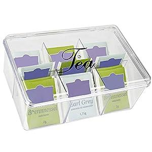 Boîte à Thé Transparente 6 Compartiments