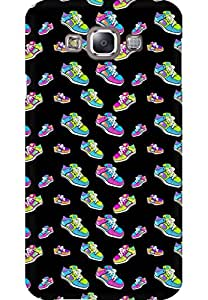 AMEZ designer printed 3d premium high quality back case cover for Samsung Galaxy E7 (sneaker doodle)