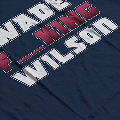 Deadpool Wade Wilson Typography Censored Women's Hooded Sweatshirt Navy Blue