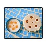glutenfrei Sweet Potato Ginger Muffins, rutschhemmenden Einzigartige Designs Gaming Maus Pad schwarz Tuch Rechteck Mousepad Art Natur Gummi Mauspad mit genähte Kanten