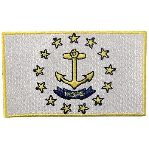 Rhode Island STATE Flagge gesticktes Abzeichen Eisen auf Sew auf RI Patch