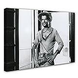 Terence Hill Bud Spencer - Der müde Joe - Saloon - Die rechte und die linke Hand des Teufels - Leinwand (80 x 60 cm)