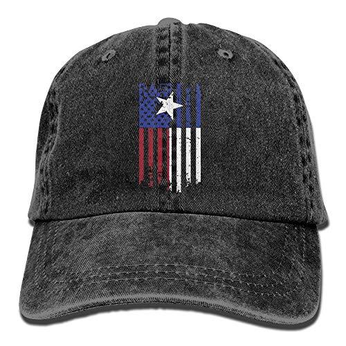 Unisex Adult USA Texas American Flag Washed Denim Retro Cowboy Style Baseball  Hat Sun Cap Trucker bd0451212f03