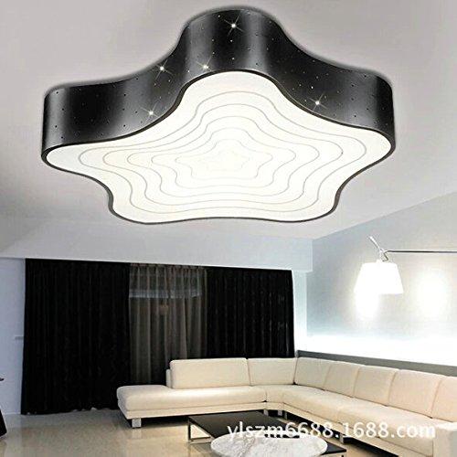 Cttsb Lampe de plafond simple mode créative moderne plafonnier led  acrylique personnalisée salon chambre à coucher starfish étude est blanc  noir grand ...