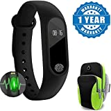 Samsung Galaxy S8 Compatible Certified Intelligence Smart fitness Band with Heart Rate sensor/Pedometer/Sleep Monitoring functions With Armband Unisex Running Sport Bag (1 Year Warranty)