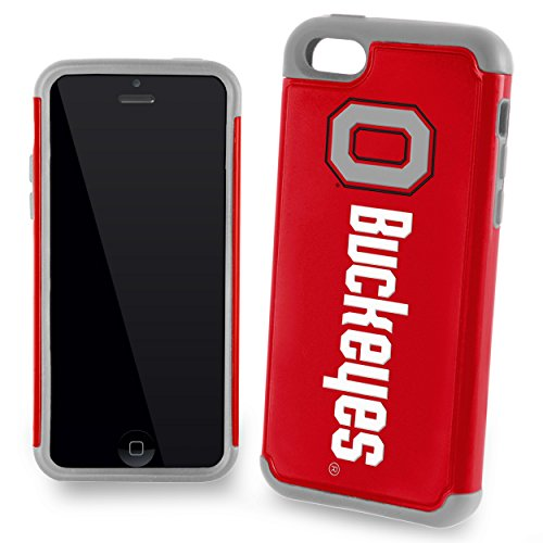 Forever Collectibles NCAA Ohio State Buckeyes Dual Hybrid Apple iPhone 5 C Cover (2 Stück), rot, one Size (5 C I Basketball Phone)