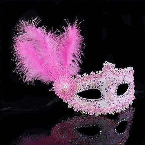 Maskerade Maske Masquerade Make-up Tanz Maske Halbes Gesicht Prinzessin Maske Kinder Party Performance Maske Männlich und weiblich Pack von 2 , (Devil Lady Make Up Kostüm)