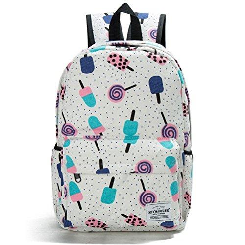 Winnerbag frischem Blütendruck Rucksäcke weiblichen Casual Leinwand Bookbags Für Mädchen Schule Taschen Preppy Stil Frauen reisen Rucksack (Reise-tasche Von Vera Bradley)
