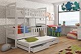 Wohnideebilder Etagenbett Stockbett Hochbett Doppelbett Viki 90x200 cm Kinderbett