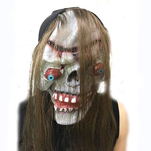 oween Trick Setzen lustig Kopf ab Augapfel Monster Maske Horrormaske ()