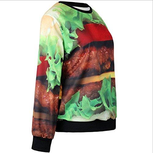 THENICE femmes Impression numérique pulls Sweatershirts T-Shirts - Hamburger