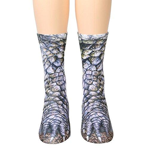 Tier Füße Socken Unisex Erwachsene Tier Pfote Crew Socken Sublimated 3D Print Füße Socken ()