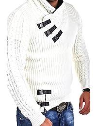 Tazzio pull en tricot avec col châle 15-462