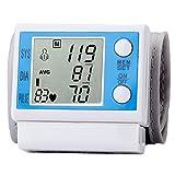 WAOBE Vollautomatisches Handgelenk Blutdruckmessgerät Manschette, Englische Elektronik Handgelenk Messen Instrument, Verstellbare Manschette und Unregelmäßiger Herzschlag-Indikator