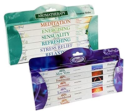 STAMFORD INC. 27281 Set of 96 Incense Sticks - Moods and Aromatherapy by Stamford : everything £5 (or less!)