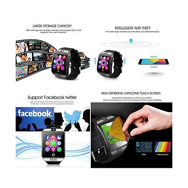 Reloj Inteligente, Smartwatch Bluetooth y Ranura para Tarjeta SIM con Rastreador de Actividad, Podómetro, Cronómetros Reloj de Fitness, Reloj Iinteligente Hombre Mujer niños Android/iOS Phone 5
