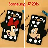 For Samsung J7 2016 Silicon, High Quality, Premium, Designer, Colourful, Cartoon Phone Cover Case Back Cover For Samsung J7 2016, Mickey Mouse, Minnie Mouse, Samsung J7 2016 Phone Cover , Samsung J7 2016 Phone Case, Samsung J7 2016 Back Cover, Light Weigh