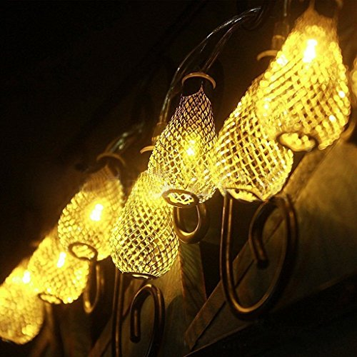 Fancy 20 LED Yellow Color Drop String Series Lights (LADI) Festival Lamp Creative Gift Diwali Christmas Wedding Party Event