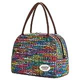 Aosbos Femme Sac Isotherme Grand Sac à Déjeuner Lunch Bag Multicolore Mosaïque