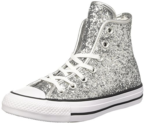 Converse 556817C, Scarpe da Ginnastica Basse Donna, (Pure Silver/White/Black 040), 38 EU