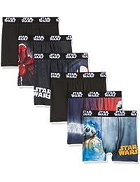 Star Wars Boxer, Shorts para Niños (Pack de 6)