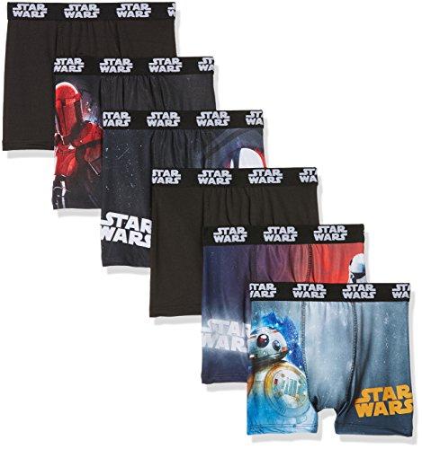 Star Wars Boxer, Shorts Niños, D1, 8 años(Pack de 6)