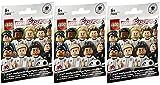 Lego® Minifigures 71014 - Deutsche Nationalmannschaft - Set aus 3 Überraschungs-Tüten (Inhalt zufällig, ohne Vorauswahl)