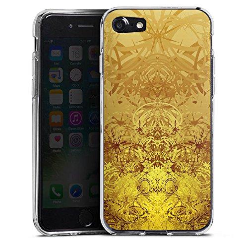 Apple iPhone X Silikon Hülle Case Schutzhülle Gold Muster Struktur Silikon Case transparent